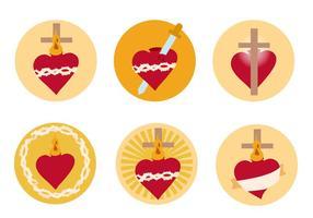 Sacro cuore vettoriale gratuito