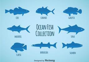 Vettore della raccolta del pesce dell'oceano