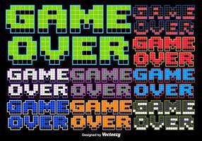 Messaggio stilizzato Game over 8 bit