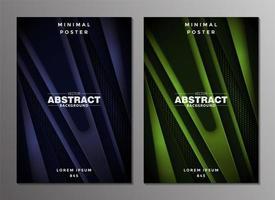 design del poster minimal astratto di lusso vettore