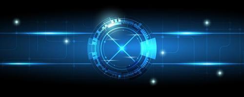 astratto blu tecnologia ingranaggi vettore