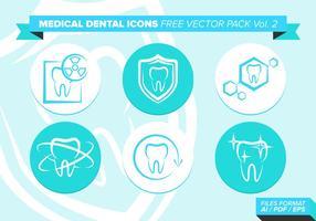 Icone mediche dentale Pacchetto gratuito di vettore Vol. 2
