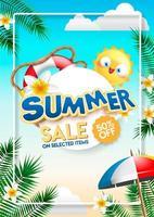 modello della bandiera di vendita di estate