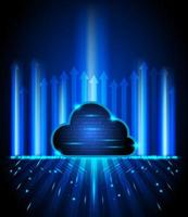 concetto tecnologia cloud computing sfondo vettore