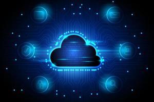 sfondo tecnologia cloud computing vettore