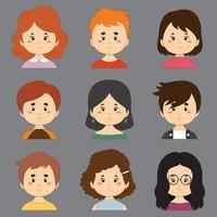 collezione colorata con avatar di grande varietà