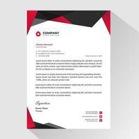modello di carta intestata business nero rosso