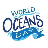 lettering per la giornata mondiale degli oceani