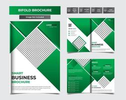 brochure a4 verde facile da modificare vettore