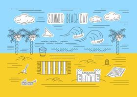 Sfondo vettoriale spiaggia estate gratis