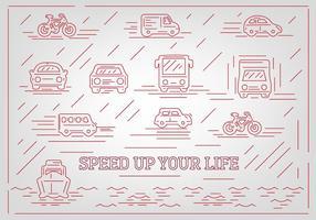 Icone vettoriali gratis veicolo astratto