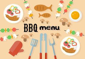 Barbecue gratuito Menu vettoriale