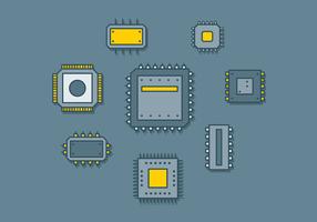 Microchip Icon Vector gratuito
