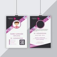 carta d'identità aziendale di forma geometrica grigia e rosa