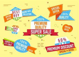 Super vendita gratuita Banner Vector