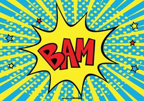 Illustrazione di sfondo comico stile BAM vettore