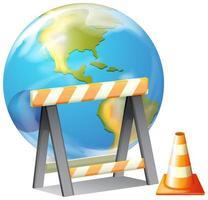 globo terrestre e attrezzatura per l'edilizia