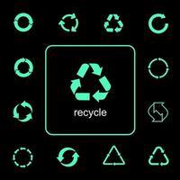 set di icone di riciclaggio multiuso