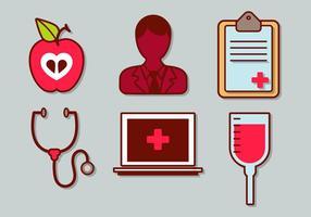 set di vettore medico