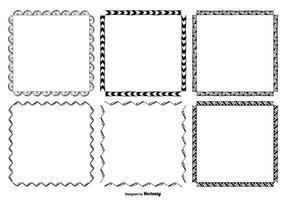 Set di frame disegnati a mano vettore