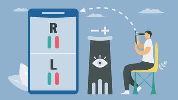 verifica della visione dello smartphone per l'innovazione delle applicazioni sanitarie vettore