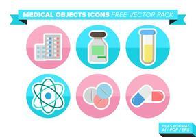 Pacchetto medico di vettore delle icone degli objets