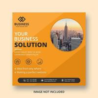 banner di post social media business design angolo arancione