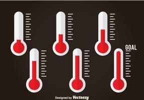 Icone piane del termometro