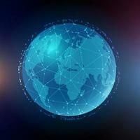 comunicazioni globali astratte vettore