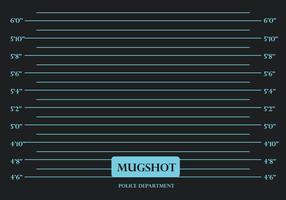 Vettore nero del fondo di mugshot