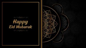 mezza mandala eid design nero e mubarak