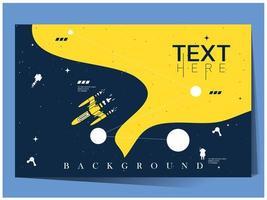 sfondo esploratore spazio blu e giallo vettore