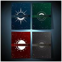 set di sfondo colorato universo vettore