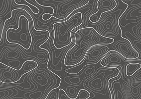 mappa di contorno della topografia vettore