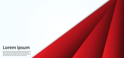 sfondo di forme triangolo 3d sovrapposte rosso vettore