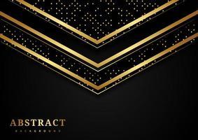 triangolo geometrico oro astratto sovrapposti sfondo di lusso vettore