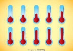 Vettore del termometro obiettivo
