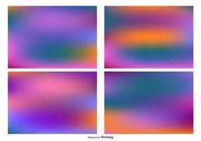 Set di sfondi colorati sfocato