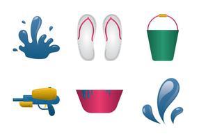 Illustrazione vettoriale di Songkran gratis