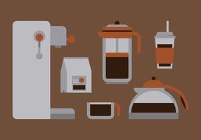 Set caffè vettoriale