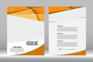 modello di brochure copertina arancione vettore