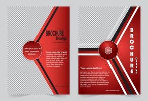 rosso business o modello aziendale imposta brochure design vettore