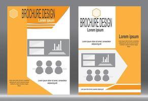 set design volantino copertina arancione vettore