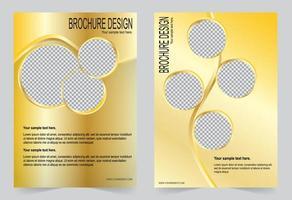 disegno del modello di copertina dorata. vettore