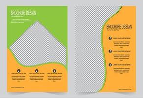 set copertina verde e arancione. vettore