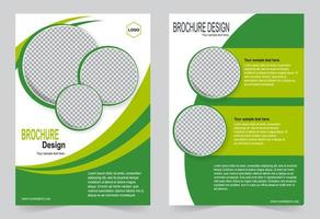 copertina verde con spazio immagine cerchio vettore
