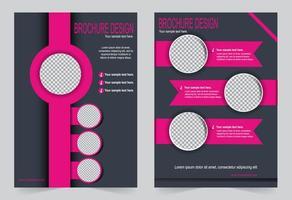 set di modelli di copertina grigio e rosa. vettore
