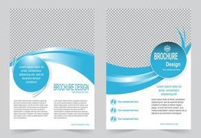 set di brochure copertina onda blu vettore