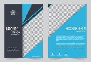 copertina blu per modello di brochure vettore