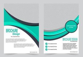 set di design modello copertina verde vettore